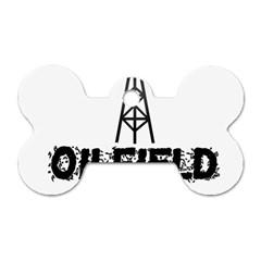 Oilfield Trash Dog Tag Bone (one Sided)