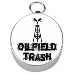 Oilfield Trash Silver Compass