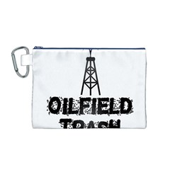 Oilfield Trash Canvas Cosmetic Bag (Medium)