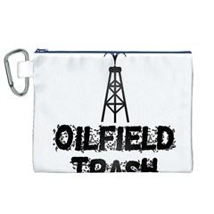 Oilfield Trash Canvas Cosmetic Bag (XL)
