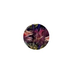 Abstract Of A Cold Sunset 1  Mini Button Magnet