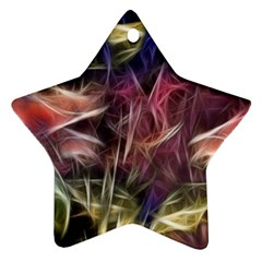 Abstract of a Cold Sunset Star Ornament