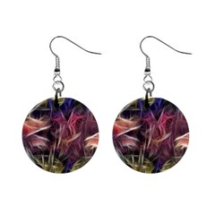 Abstract Of A Cold Sunset Mini Button Earrings