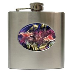 Abstract Of A Cold Sunset Hip Flask