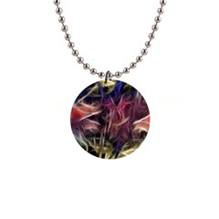 Abstract Of A Cold Sunset Button Necklace