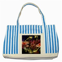 Abstract Of A Cold Sunset Blue Striped Tote Bag