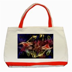 Abstract of a Cold Sunset Classic Tote Bag (Red)