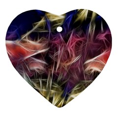 Abstract Of A Cold Sunset Heart Ornament (two Sides)