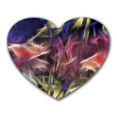 Abstract Of A Cold Sunset Mouse Pad (heart)