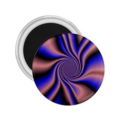 Purple Blue Swirl 2 25  Magnet