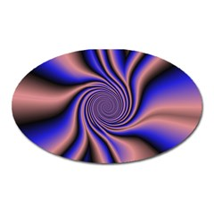 Purple Blue Swirl Magnet (oval)