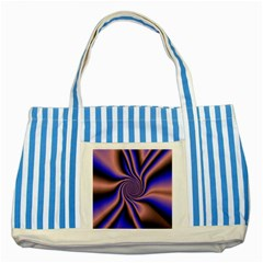 Purple blue swirl Striped Blue Tote Bag