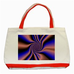 Purple Blue Swirl Classic Tote Bag (red)