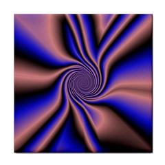 Purple Blue Swirl Face Towel