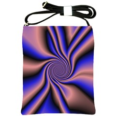 Purple Blue Swirl Shoulder Sling Bag