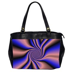 Purple Blue Swirl Oversize Office Handbag (two Sides)