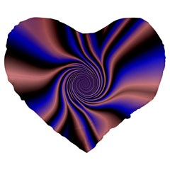 Purple Blue Swirl 19  Premium Heart Shape Cushion