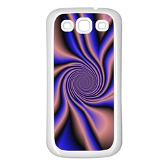 Purple Blue Swirl Samsung Galaxy S3 Back Case (white)