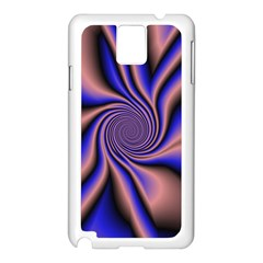 Purple Blue Swirl Samsung Galaxy Note 3 N9005 Case (white)
