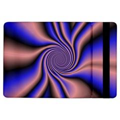 Purple blue swirl Apple iPad Air Flip Case