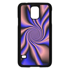 Purple Blue Swirl Samsung Galaxy S5 Case (black)