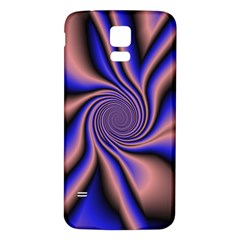 Purple blue swirl Samsung Galaxy S5 Back Case (White)