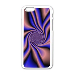 Purple Blue Swirl Apple Iphone 6 White Enamel Case