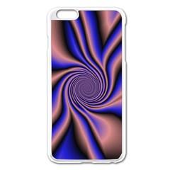 Purple blue swirl Apple iPhone 6 Plus Enamel White Case