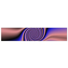 Purple blue swirl Flano Scarf (Small)