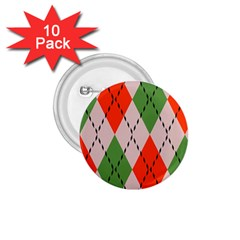 Argyle Pattern Abstract Design 1 75  Button (10 Pack)