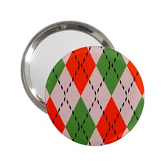 Argyle Pattern Abstract Design 2 25  Handbag Mirror