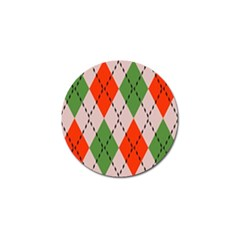 Argyle Pattern Abstract Design Golf Ball Marker