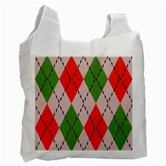 Argyle Pattern Abstract Design Recycle Bag (one Side)