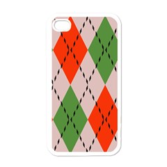 Argyle Pattern Abstract Design Apple Iphone 4 Case (white)
