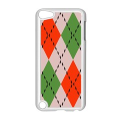 Argyle Pattern Abstract Design Apple Ipod Touch 5 Case (white)