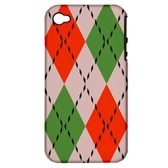 Argyle Pattern Abstract Design Apple Iphone 4/4s Hardshell Case (pc+silicone)