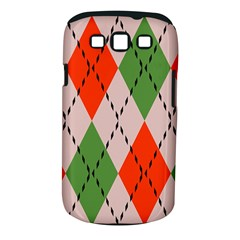 Argyle Pattern Abstract Design Samsung Galaxy S Iii Classic Hardshell Case (pc+silicone)