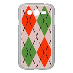 Argyle Pattern Abstract Design Samsung Galaxy Grand Duos I9082 Case (white)