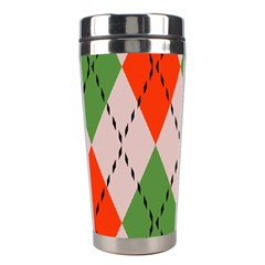 Argyle Pattern Abstract Design Stainless Steel Travel Tumbler