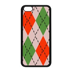 Argyle pattern abstract design Apple iPhone 5C Seamless Case (Black)