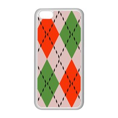 Argyle pattern abstract design Apple iPhone 5C Seamless Case (White)