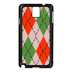 Argyle pattern abstract design Samsung Galaxy Note 3 N9005 Case (Black)