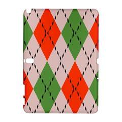 Argyle pattern abstract design Samsung Galaxy Note 10.1 (P600) Hardshell Case
