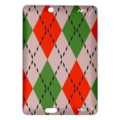 Argyle Pattern Abstract Design Kindle Fire Hd (2013) Hardshell Case