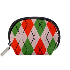 Argyle pattern abstract design Accessory Pouch (Small)