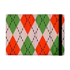 Argyle pattern abstract design Apple iPad Mini 2 Flip Case