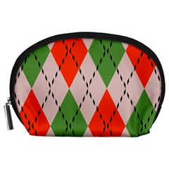 Argyle pattern abstract design Accessory Pouch (Large)