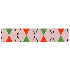 Argyle Pattern Abstract Design Flano Scarf (small)