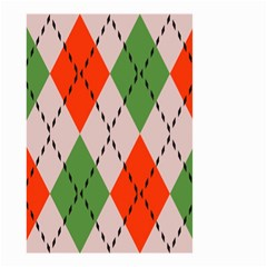 Argyle pattern abstract design Small Garden Flag (Two Sides)