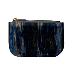 Blue Black Texture Mini Coin Purse